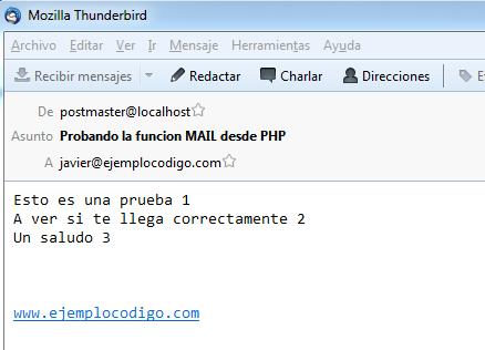 Captura de imagen de un email