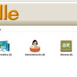 Ejemplo Moodle: iconos en categorías