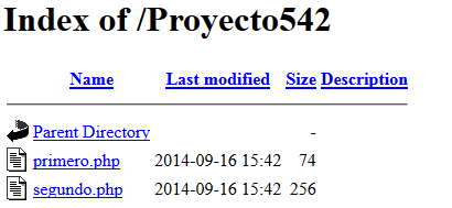 lista archivos php