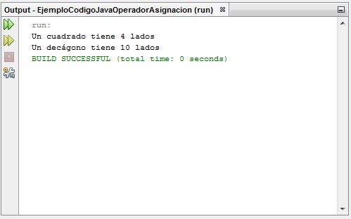 EjemploCodigoJavaOperadorAsignacion