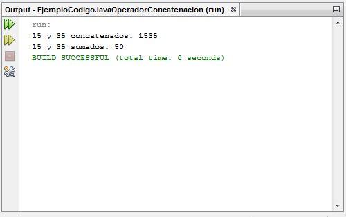 EjemploCodigoJavaOperadorConcatenacion